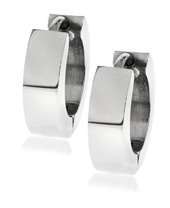 Sutton Steel Huggie Earring Set