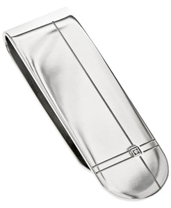 Sutton Stainless Steel Diamond Accent Etched Money Clip