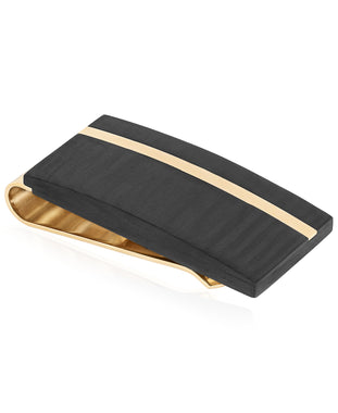 Sutton Gold-Tone Stainless Steel and Carbon Fiber Money Clip