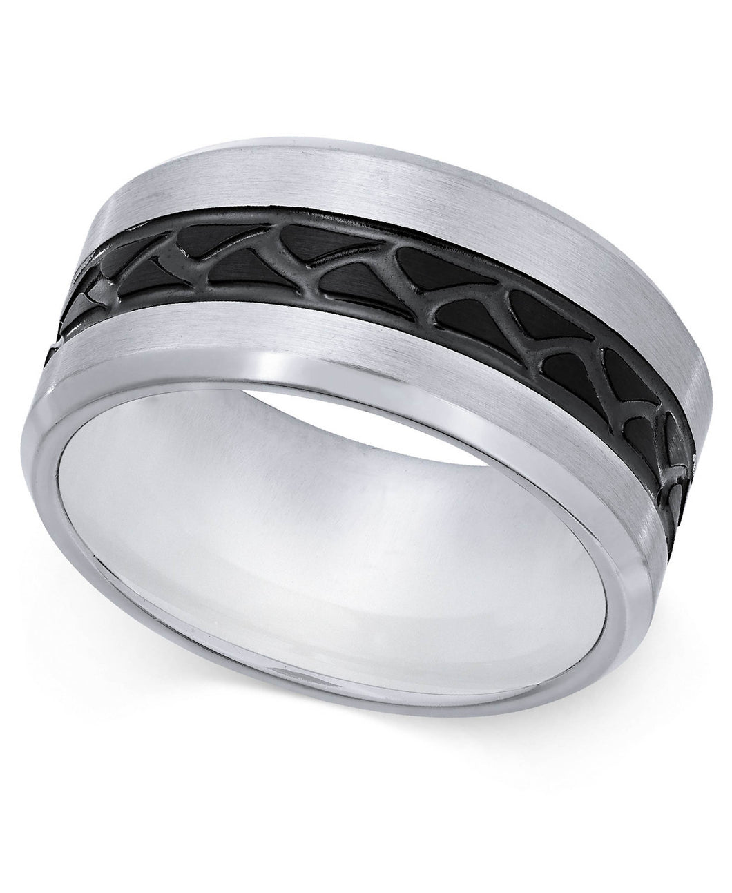 Men's Stainless Steel Tire Tread Ring