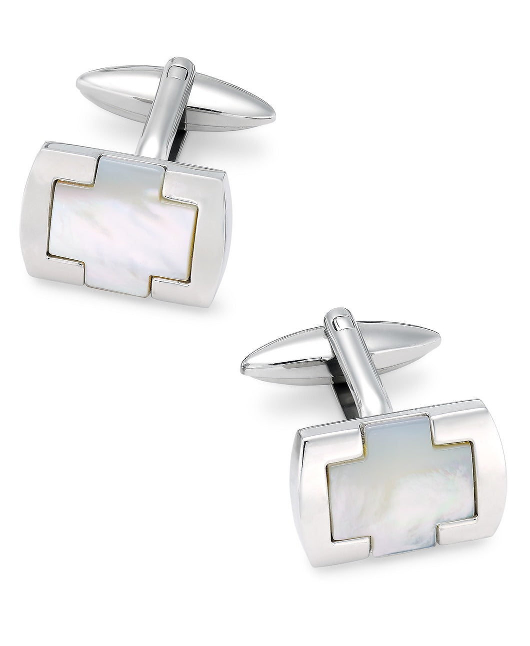 Men's Stainless Steel & Mother-of-Pearl Cufflinks