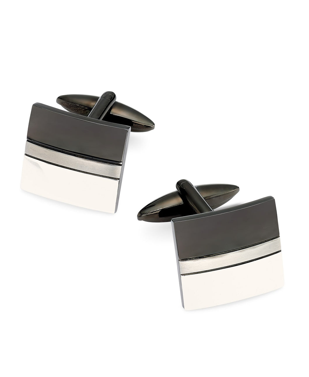 Men's Two-Tone Stainless Steel Cufflinks