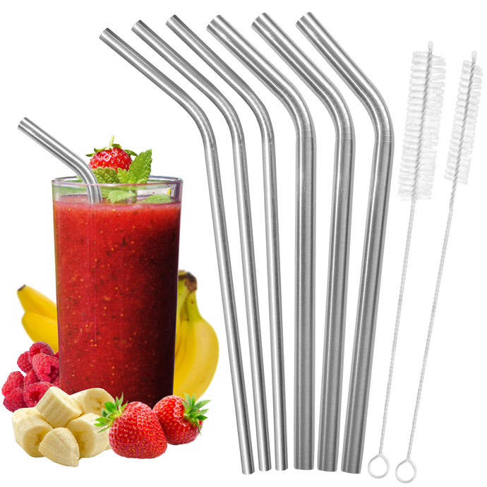 All Bent Stainless Steel Straw Set - 2 Sizes