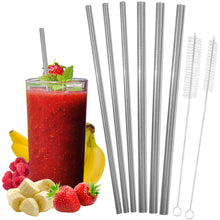 Load image into Gallery viewer, All Straight Stainless Steel Straws Set - 2 Sizes