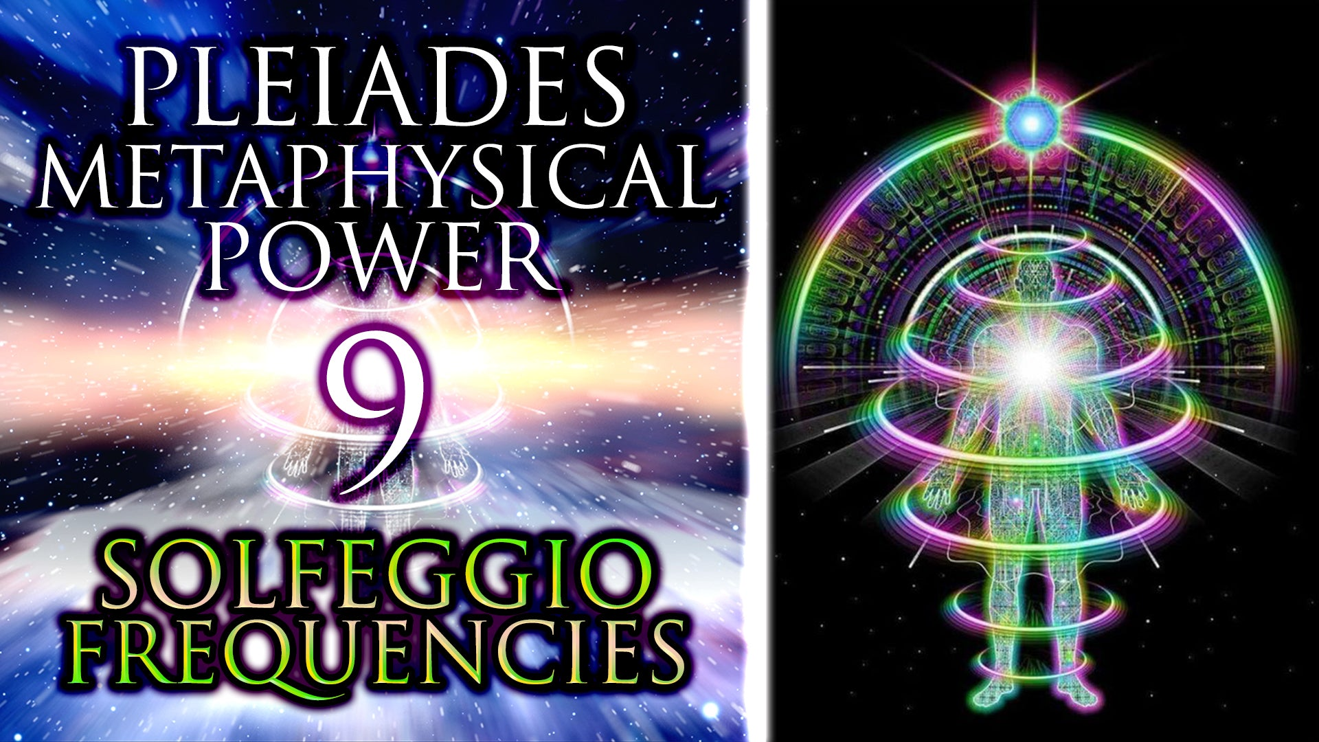 All 9 Pleiades Solfeggio Frequencies ꩜ Metaphysical Power Meditation ꩜ 430.65 Hz Shamanic Drums