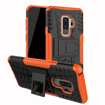 2 In 1 Armor Style Case For Samsung Galaxy S9+ Back Cover Heavy Duty Coque PC+Silicone Fundas For Galaxy S9 Plus / SM-G965F