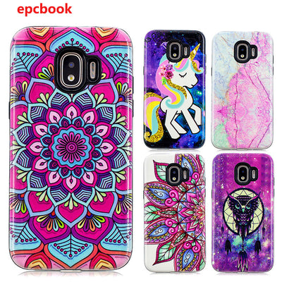 2 In 1 Colorful Printing Phone Case For Samsung Galaxy J2Pro 2018 Case Coque Galaxy J2Pro Cover Protection Anti-knock Back Cover