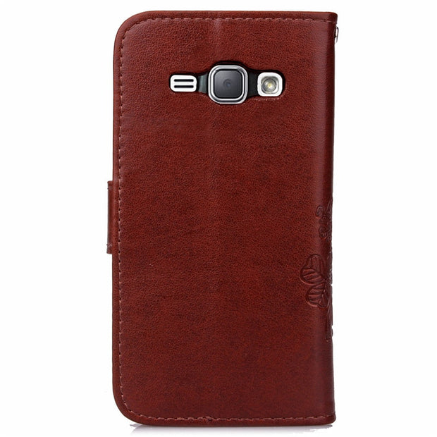 2016 Luxury PU Leather Wallet Flip Case For Samsung Galaxy J120 J120f J1 (2016) SM-J120F Silicone Cover Magnet Phone Bag Coque
