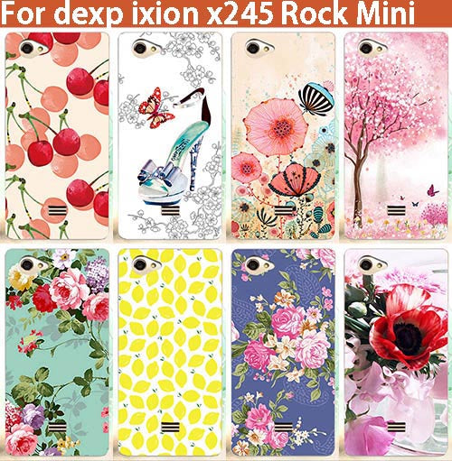 "2017 New Arrival Diy UV Painted Colored Flowers Fruit Soft Tpu Case For DEXP Ixion X245 Rock Mini 4.5"" Cover Silicone Phone Bags"