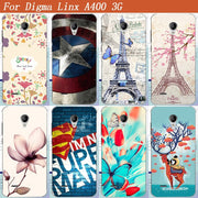 "2017 New Fashion Painting Colored Deer Eiffel Towers Superman Flowers Soft Tpu Case For Digma Linx A400 3g 4.0"" Cover Sheer"