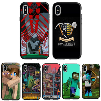 2018 NEW Game Mojang Black Soft Silicone TPU Phone Case Cover For Apple IPhone 8 8plus X10 6s 6 7 7plus 5 5s SE Coque Cases