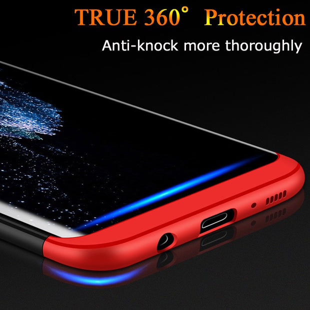 3 In 1 Case For Samsung Galaxy S8 Plus S7 S6 Edge Note 8 J7 Prime J7 J5 J3 2017 Eurasian Version Hard PC 360 Phone Cover Shell
