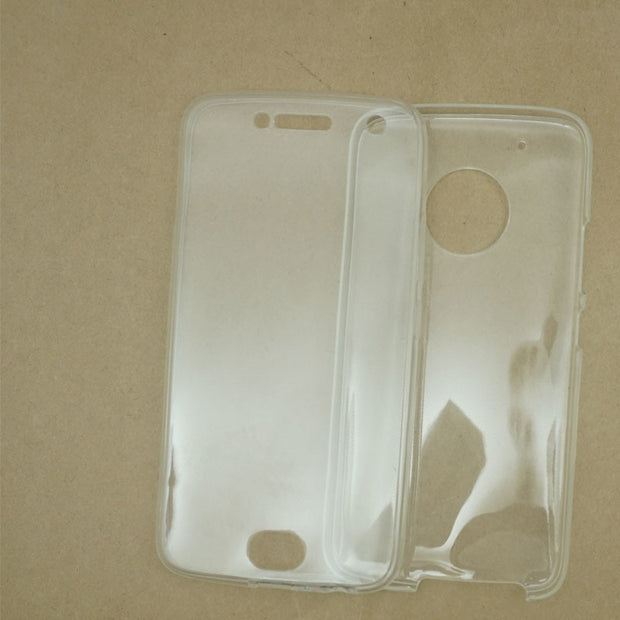 newest 96bf0 ba844 360 Degree Full Body Clear Silicone Soft TPU Case Cover For Motorola ...
