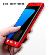 360 Degree Full Protective Case For Samsung Galaxy S7 Edge Case Hard Shockproof Case For Samsung S8 S9 S6 Plus Note 8 Glass Film