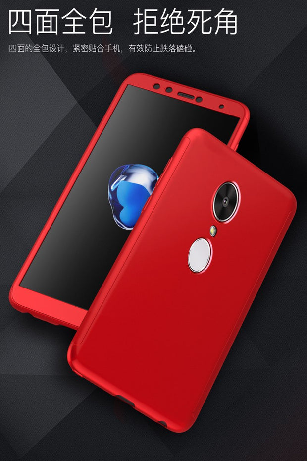 360 Degree Protection Back Covers For XIAOMI Redmi 5A 5 Plus Cases Hard Plastic Full Body Cover For Redmi Note 5 Global Version