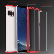 360 Degree Protection Full Body Protective Hard PC Back Cover Case For Samsung Galaxy Note 8 S9+ S8 Plus S7 Edge S6 Phone Cases