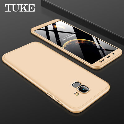 360 Degree Protector Phone Case For Samsung J6 Cases Phone Cover For Samsung J 6 Plastic Fashion Phone Shell