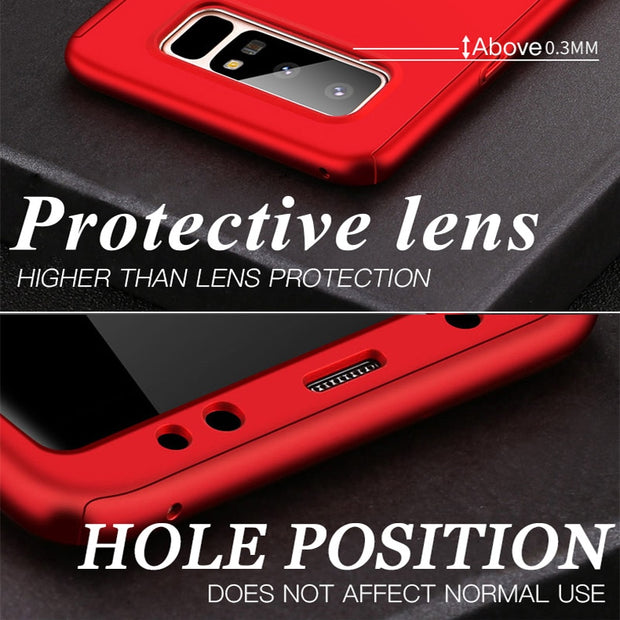 360 Degree Shockproof Phone Case For Samsung Galaxy S9 S8 Plus Note 8 9 S7 Edge Cover For Samsung J3 J5 J7 2016 Protection Case