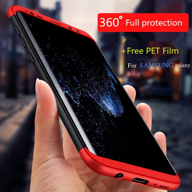 360 Full Protection For Samsung Galaxy S8 S9 Plus S7edge Note 8 Anti-knock 3-in-1 Ultra Thin Hard Case For Samsung A8 2018 S6