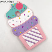 3D Cartoon Cherry Cupcakes Ice Cream Soft Silicone Case For Samsung Galaxy J3 2017 J330 EU Version Back Cover Phone Case Funda