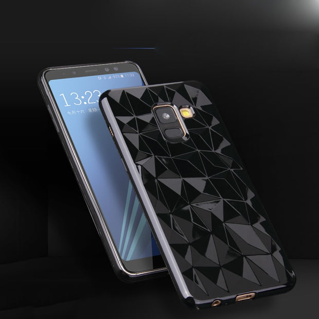 3D Diamond TPU Clear Coque For Samsung Galaxy J2 Pro J3 J5 J7 Prime 2017 A6 A8 J4 J6 Plus A7 A9 2018 Note 8 9 S7 S8 S9 Plus Case