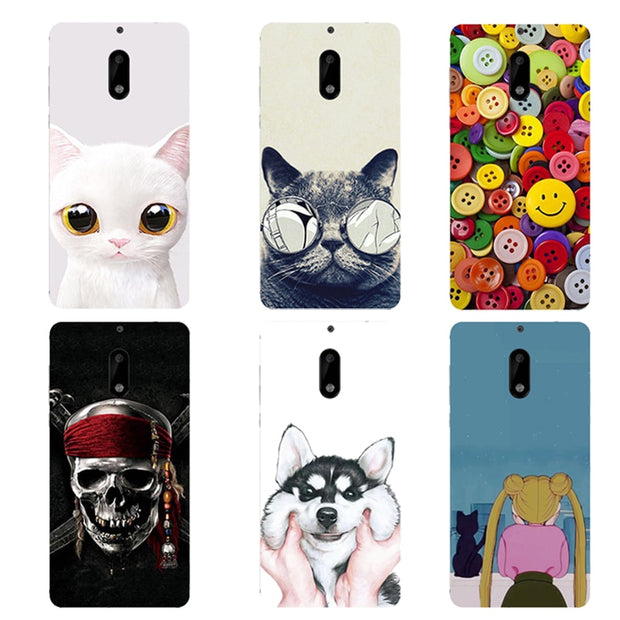3D Phone Case For Coque Nokia 6 Phone Case 5.5inch Case Back Cover For Nokia 6 Nokia6 Funda TPU Soft Cover Shell
