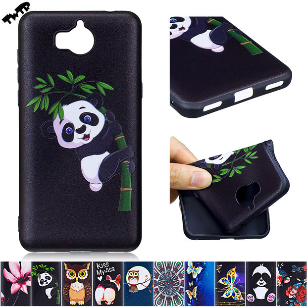 3D Relief Silicone Case For Huawei Y6 Y 6 2017 MYA-L41 MYA-L11 Phone Case For Huawei Nova Young MYA L41 L11 TPU Fitted Cover
