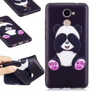 3D Relief Soft TPU Floral Flower Butterfly Panda Owl Painted Silicone Phone Case For Huawei Y7 Prime 2017 Back Cover Caso