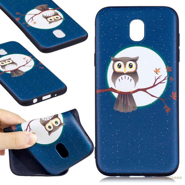 3D Relief Flower Owl Panda Soft Tpu Silicone Phone Case For Samsung J5 2017 J530F Beautiful Colorful Flora Capa Back Cover Caso