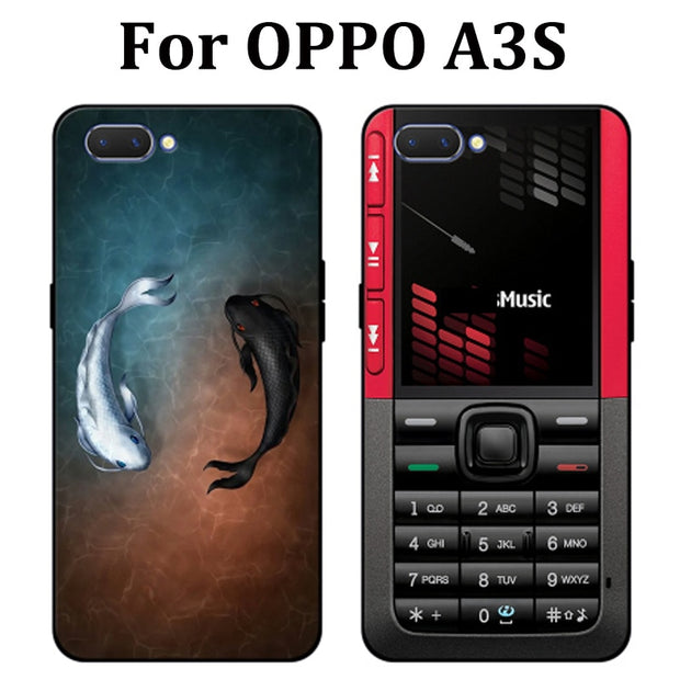 6.2inch For OPPO A3S Case Cute Cartoon Soft Phone Case OPPOA3S Cover Protection Shell For OPPO A3 S Fundas Capas For OPPO A 3 S