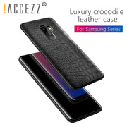 !ACCEZZ Luxury Crocodile Snake Pattern Back Cover Cases For Samsung S8 S9 Plus Soft PU Leather Shell For Samsung Note 8 Fundas