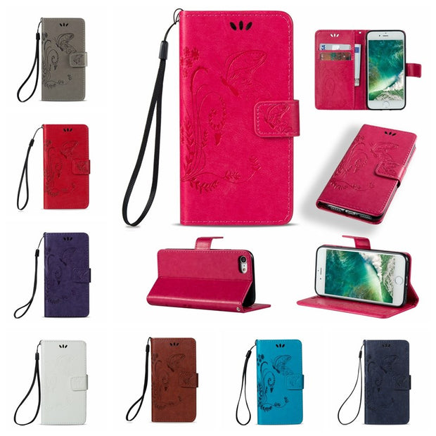AIPUWEI PU Flip Leather Case For IPhone 6 6s 7Plus CASE Wallet Phone Cover For Apple IPhone 7 7s Plus 5 5S SE 5C Touch 5 6 Case