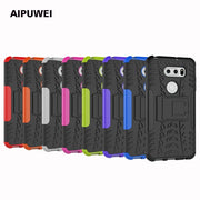 AIPUWEI SILICONE PLASTIC HARD PHONE Cover For LG V30 Case Anti-Knock Shockproof Armor Case For LG V30 Cover SKIN CAPA SHELL BAGS