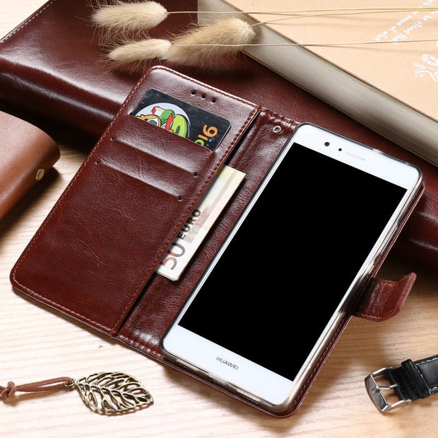 AKABEILA Case For ASUS ZenFone Go ZB500KL ZB500KG 5.0 Inch Leather Flip Wallet Cases Card Slot Phone Covers Bags