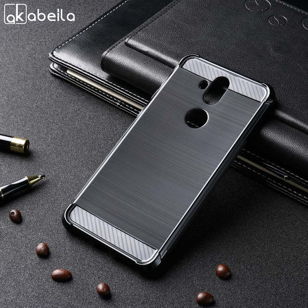 AKABEILA Case For Asus Zenfone 5 Lite ZC600KL Case Soft For Asus ZC600KL Silicon Cover Anti-Knock Brush TPU Shell Protector
