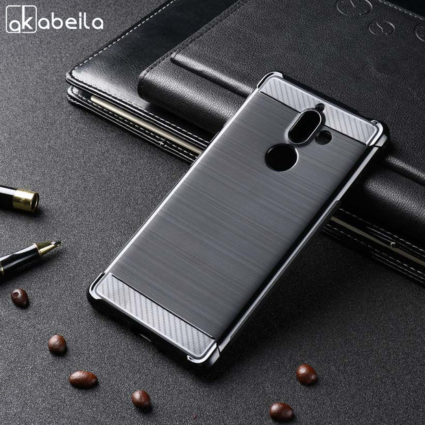 AKABEILA Case For Nokia 7 Plus Case Soft For Nokia 7 Plus Silicon Cover Anti-Knock Brush TPU Shell Protector 6.0 Inch