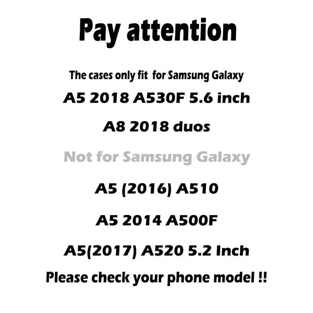 AKABEILA For Samsung Galaxy A5 2018 Case TPU Cover Samsung A8 2018 Duos With Dual-SIM Card Slot A530F A530F/DS Plush Matte Cases