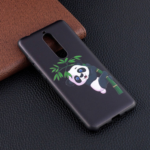 AKABEILA Silicone Cases For Nokia 3.1 Nokia 3 2018 Case For Nokia 5.1 Nokia 5 2018 Patterned Anti-fall Shells New Fashion Cover