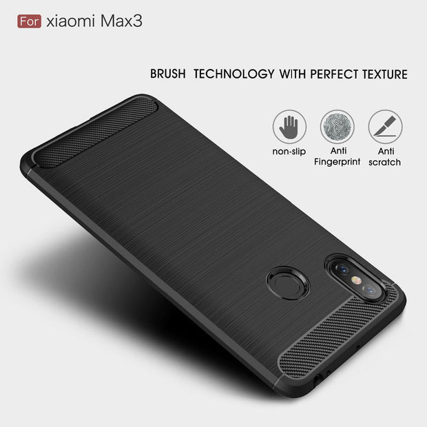 AXBETY For Xiaomi Max 3 Case Luxury Ultra Slim Carbon Fiber Protection Case For Xiaomi Max3 Cover Fundas Silicon Soft TPU Case