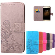 Aiqaa Case For Umi Rome X Cover Flip PU Leather & Silicone Mobile Wallet Holster Cover For Umi Rome X Case 5.5 Inch Phone Funda