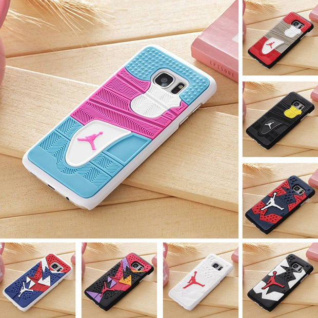 "Air Jordan Shoe Sole PVC+Rubber Case For Samsung Galaxy S7 Edge G9350(5.5"") 3D AJ Jumpman23 Back Cover Phone Cases Free Shipping"