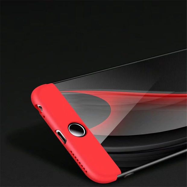 All Inclusive 360 Full PC Hard For Iphone 6 6S 7 8 Plus Case Coque Double Protection Phone Case Back Cover For Iphone 7 Plus