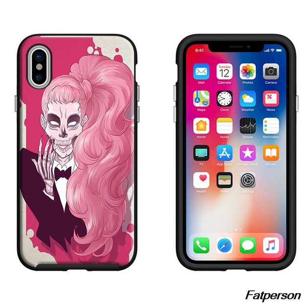 American Singer Lady Gaga Black Soft Silicone TPU Phone Case Cover For Apple IPhone X 8 8plus 7 7plus 6s 6plus 5 5s Coque Cases