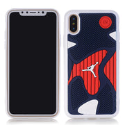 Anti-knock 3D Air Jordan Shoe Sole PVC+Rubber Cases For IPhone X, AJ Jumpman Back Cover Phone Cases,6 Patterns, Free Shipping