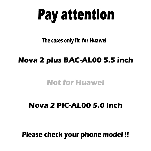Anunob Case For Huawei Nova 2 Plus Cases Cover For Nova 2 Plus BAC-AL00 Nova2 Plus Silicon Cover Housing Mobile Phone