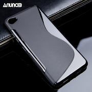 Anunob Soft TPU Mobile Phone Cover For Lenovo Sisley S90 Case 4G FDD LTE S90U S90T S90-U S90a A319 Cover Black Shell Cases
