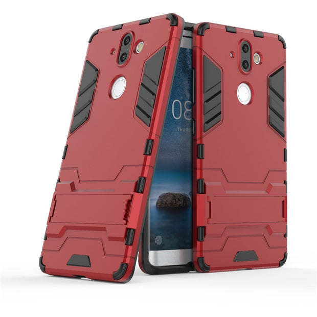 new style b56fe c0906 Armor Case For Nokia 8 Sirocco Case 5.5 Inch Soft TPU + Hard PC Heavy Duty  Protective Back Cover For Nokia 8 Sirocco TA-1005