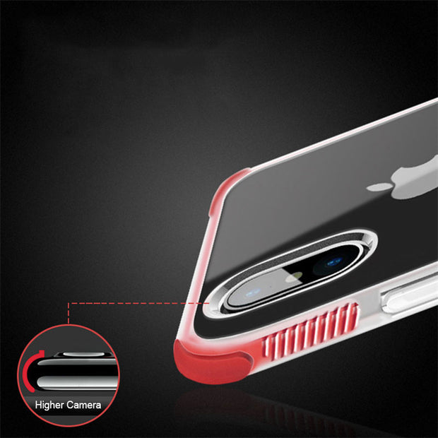 Armor Impact Shockproof Clear Soft TPU Phone Case For IPhone X 7 8 6 6S Plus 5 S 5S SE Transparent Silicon Protective Back Cover