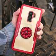 Axbety Luxury Glitter Diamond Case For Samsung Galaxy S9 S8 Plus Note 8 3D Bling Grip Stand Holder Cover Hard Back Cases Capa