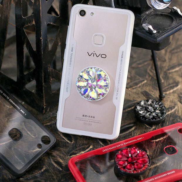 Axbety Luxury Glitter Diamond Case For VIVO V7 V7Plus Y67 Y71 Y83 Y85 3D Bling Grip Stand Holder Cover Hard Back Cases Fundas